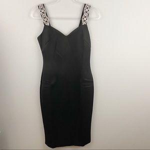Ted Baker • Mally Black Rhinestone Dress